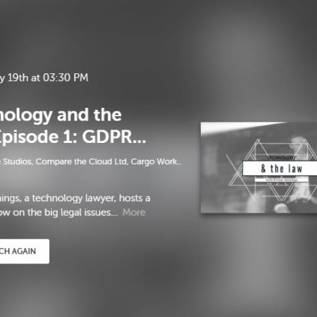 Technology & the Law episode 1: GDPR and data location