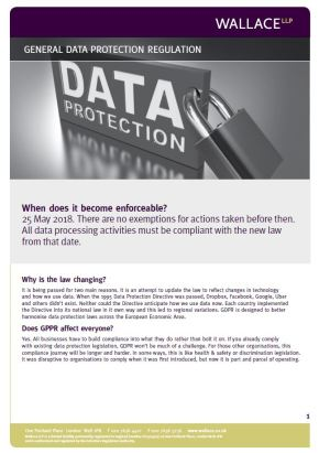 GDPR Fact Sheet front page